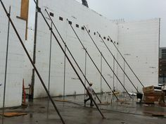 Pinnacle Scaffold Tilt-Up division's work on the new Penn Cinema IMAX theater at the Riverfront, Wilmington, DE. Supported by tilt-up wall braces LIG Forming & Shoring 855-858-6633 http://ligformingshoring.com/tiltupwallbraces.html