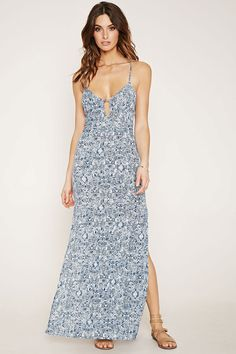 Contemporary Lace-Up Maxi Dress | Forever 21 - 2000153220