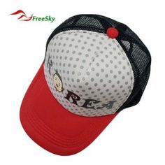 661d1734d1b Fashion Mesh Cap with Flat Visor and Dots Printed Upper Peak  USD  7.78
