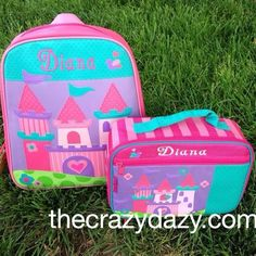 Is your little girl a princess? Get your little girl a castle Stephen Joseph backpack for school. She will love packing her own things in her backpack for preschool. www.thecrazydazy.com