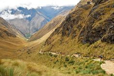 The highest point on the Inca Trail, Warmiwanusca Pass, rises to over 13,700 feet.