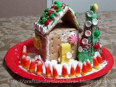 Graham Cracker Gingerbread House & Ice Cream Cone Christmas Tree