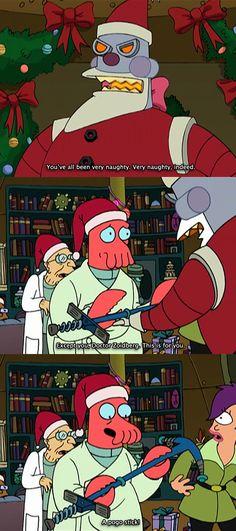 "Pogo stick is the new Rimbalzello  Robot Santa Claus e Dr.Zoidberg nell'episodio 2x04 (Xmas Story) di ""Futurama""."