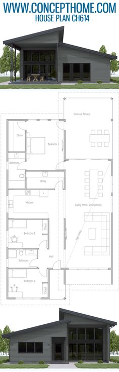 Home plan Stoves, ovens or washing machines are simply part of living today. Our living tips reveal how you don& feel like you are in a technology market d. New House Plans, Dream House Plans, Modern House Plans, Small House Plans, House Floor Plans, House Floor Design, Plan Ville, Local Builders, Container House Design