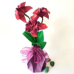 62 best small origami flower arrangements images on pinterest beautiful origami flower arrangement paper flowers for salepaper mightylinksfo