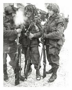 Paratroopers of the 1st Canadian Parachute Battalion, Bastonge, 1945. #WWII #WW2