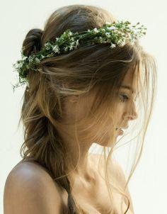simple floral crown
