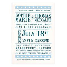 Ticket of Love Wedding Invitations   Wedding Invitations