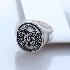 Harry Potter Hogwarts Ring, //Price: $14.49 & FREE Shipping // #HarryPotter #Potter #HarryPotterForever #PotterHead #jkrowling #hogwarts #hagrid #gryffindor