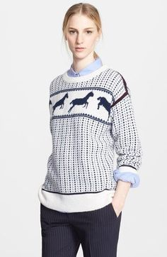 Band of Outsiders Fair Isle Horses Wool Blend Sweater, $475