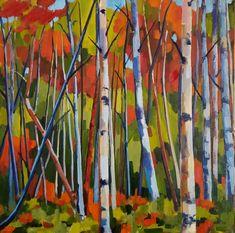 Jenn Hallgren is a Philadelphia Artist painting trees and gardens, landscapes, and still lifes with oil paint. Sand Painting, Artist Painting, Painting Trees, Oil On Canvas, Canvas Art, Original Paintings, Original Art, Abstract Art, Abstract Expressionism
