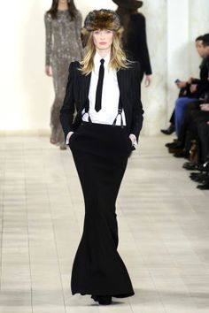 Ralph Lauren Fall 2015.  See more of NYFW's best runway looks here: