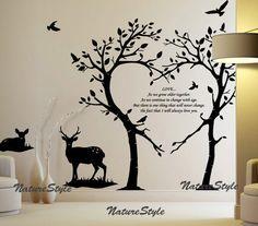 Family Wall Decor, Tree Wall Decor, Family Tree Wall, Wall Art Decor, Tree Wall Art, Nursery Wall Decals, Wall Decal Sticker, Wall Stickers, Wall Murals