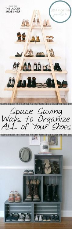 Space Saving Ways to Organize ALL of Your Shoes| Organize Your Shoes, How to Organize Your Shoes, Easily Organize Shoes, Closet Organization, Closet Organization Tips, Organization Tricks, Home Storage, Storage for the Home, Popular Pin