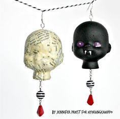 ... heads, doll heads, or even can be made with foam balls to freak out