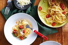Quick, Easy Recipes - Garlic, olive oil & tomato pasta