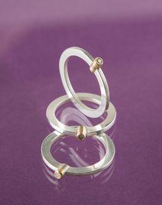 Millie Behrens ring med diamantsølv, gull og diamant
