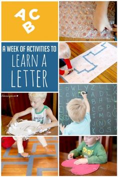 A week of activities that focus on a letter of the week. Awesome!