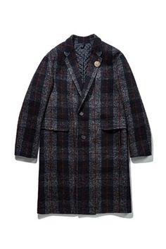 [customellow] double peaked check coat > 코트 > MALE > joykolon