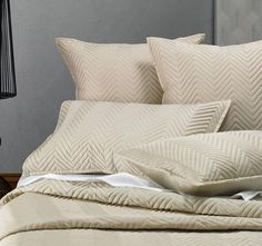 Sienna Quilted LINEN HOUSE LIFESTYLE  Designed as a foundation layer to coordinate with your other bed linen, the quilted Sienna range is available in a variety of components and in a range of contemporary, neutral colours.  Features: Cotton sateen outer Polyester fill 400 thread count  Dimensions: x1 European Pillowcase - 65cm x 65cm - #pillowcases