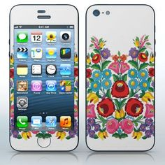 Kalocsai Motif #2  Hungarian folklore pattern  phone skin sticker for Cell Phones / Apple iPhone 5/5G | $7.95