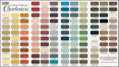 Duron's Colors of Historic Charleston are now available at Sherwin-Williams stores. They have all the formulas. Paint charts are hard to find since Duron is no longer in business.
