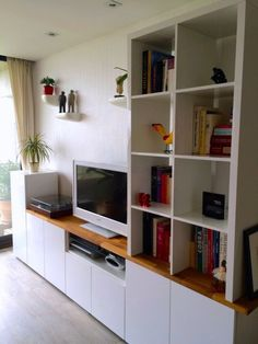 ikea wall cabinets living room. TV unit from IKEA METOD Kitchen Cabinets  Hackers Tv units