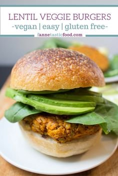 Lentil Veggie Burgers - the easiest, healthiest, most satisfying dinner you'll make this week!