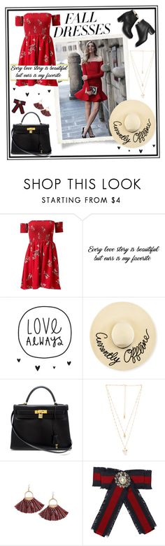 """Ecclesiastes 5:18"" by mira-j ❤ liked on Polyvore featuring Eugenia Kim, Hermès, Natalie B, Gucci, Fall, bible, bibleverse and falldresses"