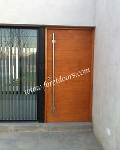 Modern front door with long pull