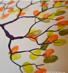 Wedding Fingerprint Tree - Alternative Guest Book