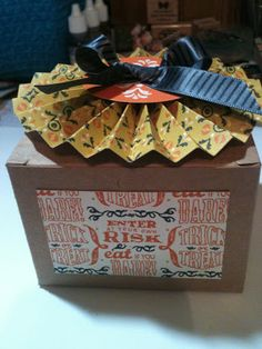 Stampin' in the Sun!: Halloween Box using Halloween Banner Simply Created Kit