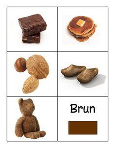 kleuren leren bruin