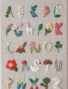 Super Stickerei Baby Room Sweets Ideen Super Embroidery Baby Room Sweets id Hand Embroidery Stitches, Embroidery Art, Cross Stitch Embroidery, Hand Stitching, Diy Embroidery Letters, Geometric Embroidery, Embroidery Sampler, Ribbon Embroidery, Knitting Stitches