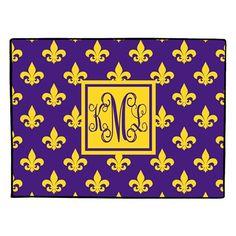 Monogrammed Doormat Personalized Door Mat  by Gameday Girl Designs, $35.00 #LSU #Tigers