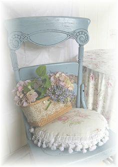 Shabby Blue Chair