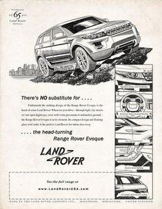 Theres NO substitute for the head-turning Evoque Official USA Land Rover Range Rover Autobiography Coupé Dynamic Range Rover Evoque, Range Rover Sport, Steam Tractor, Car Purchase, Landrover, Best Ads, Jeep 4x4, 40th Anniversary, Future Car
