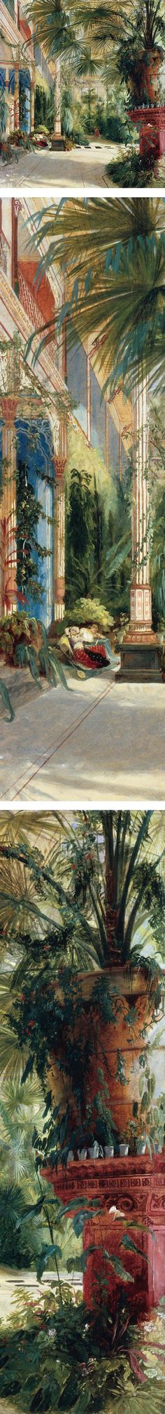 Eye Candy for Today: Carl Blechen interior