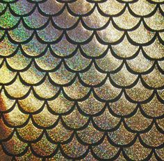 Items similar to Gold Large Fish Scale Mystique Lycra Fabric on Etsy Holographic Foil, Hologram, Mermaid Scales Tattoo, Mermaid Wallpapers, Iphone Wallpapers, Squid Tattoo, Wallpaper Fofos, Scale Tattoo, Fish Scales
