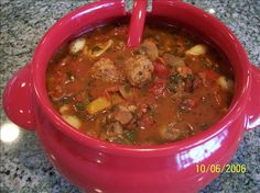 Italian-Style Pepperoni And Spinach Soup With Meatballs Recipe - Food.com - 186758