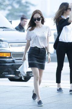 SNSD Jessica Jung fashion airport