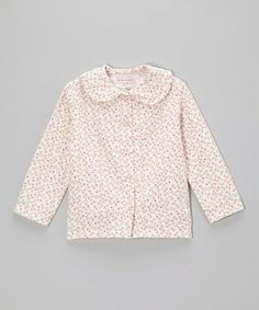 Love this White & Pink Mums Sophie Button-Up - Toddler & Girls by Pears + Bears by Kayce Hughes on #zulily! #zulilyfinds