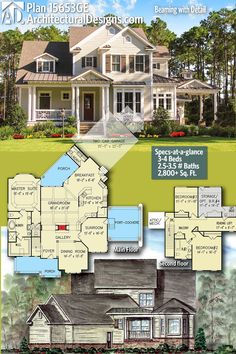 Architectural Designs House Plan 15653GE gives you 3 to 4 beds, 2.5 to 3.5 baths and over 2,800 sq. ft. of heated living space.Ready when you are! Where do YOU want to build? #15653GE #adhouseplans #architecturaldesigns #houseplan #architecture #newhome #newconstruction #newhouse #homedesign #dreamhome #dreamhouse #homeplan #architecture #architect #customhome