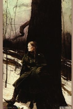 for that caped, belted, loden coat--Andrew Wyeth, Cape Coat (Helga Pictures), Andrew Wyeth Prints, Andrew Wyeth Paintings, Andrew Wyeth Art, Jamie Wyeth, Figure Painting, Painting & Drawing, Nc Wyeth, Art For Art Sake, American Artists