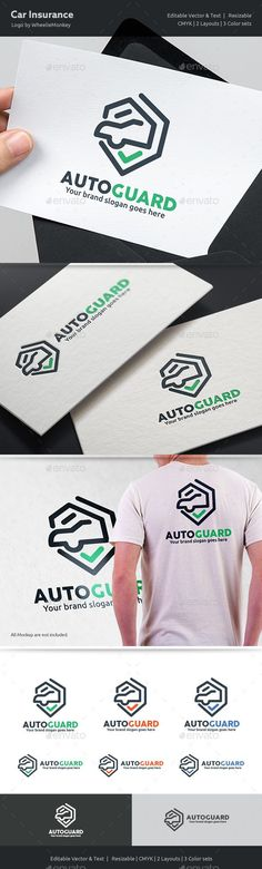 Car Insurance Logo — EPS Template #lock #anti-thief • Download ➝ https://graphicriver.net/item/car-insurance-logo/18276346?ref=pxcr