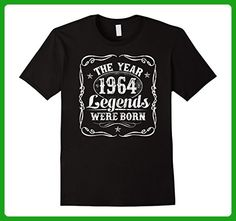 Mens 1964 The Year Legends Were Born T-Shirt 53rd Birthday Gift Large Black - Birthday shirts (*Amazon Partner-Link)