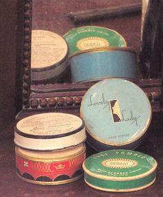 vintage face powder refills
