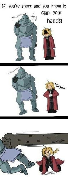 Fullmetal Alchemist Edward is short