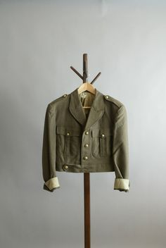 Pristine Vintage French Military Ike Jacket by CreamColoredPony, $178.00