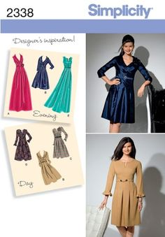 Simplicity Sewing Pattern 2338 Misses'  and Plus Size Day to Evening Dresses, AA (10-12-14-16-18) Simplicity Creative Group Inc - Patterns http://smile.amazon.com/dp/B004N3AWGW/ref=cm_sw_r_pi_dp_N4c2tb1TZ7Z9VHB9